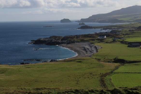 Looking east, that's Ballyhillin Beach.