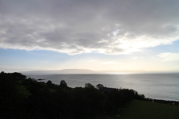 This morning's view from the dining room—gorgeous! That's Northern Ireland over there.