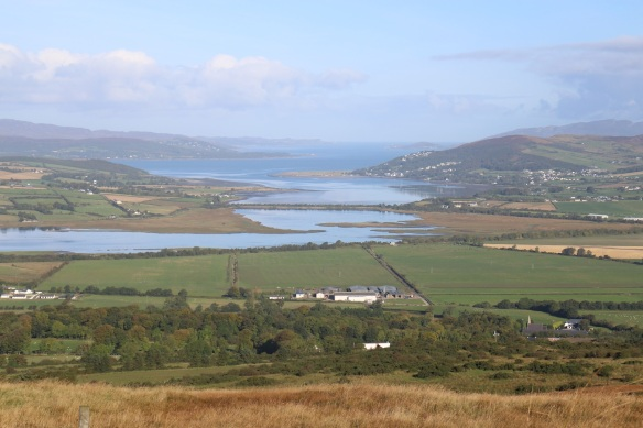 Zooming in, with Inch on the left, looking at Lough Swilly stretching all the way up to the North Atlantic.