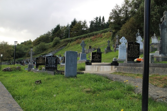 A graveyard on a hill, near Redcastle on Inishowen.