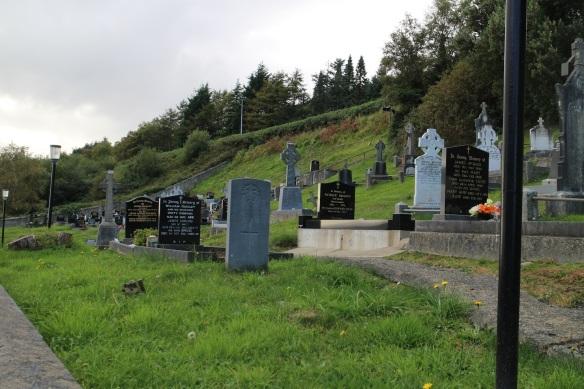 A graveyard on a hill, near Redcastle on Inishowen.