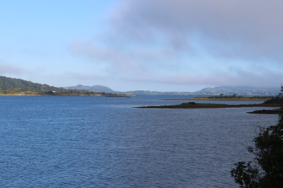 Looking north along Mulroy Bay. That's the Fanad Peninsula on the right, the Rosguill Peninsula on the left.