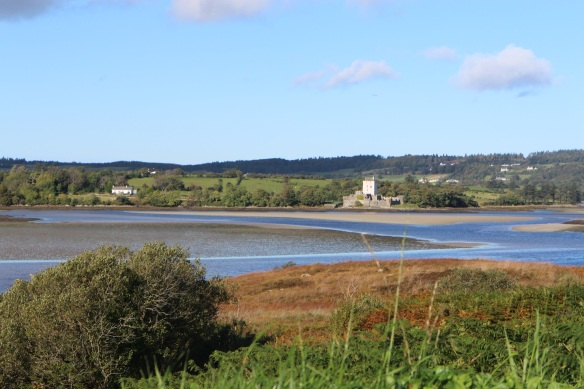 Doe Castle on the shores of Sheephaven Bay at low tide, October 2015.