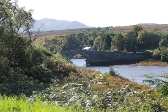 Crossing the Lackagh River, which drains from Sheephaven Bay into Glen Lough.