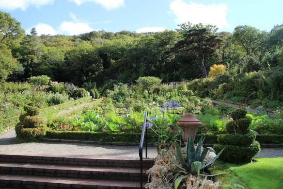 Garden at Glenveagh Castle.