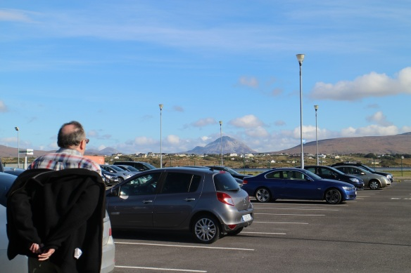 Walking back to the parking lot. That's Mount Errigal in the distance. See? Massive.