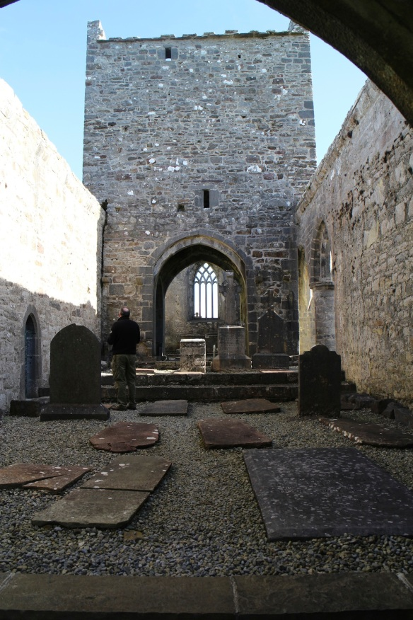 Standing in the doorway of the nave, looking into the chancel.
