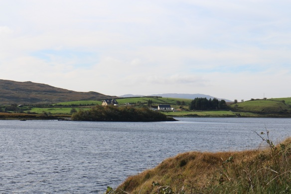 """Another lake along the way. The Twelve Bens are behind us now. I look at these places and think """"Wouldn't it be lovely"""" but then I remind myself it's very remote, and I'm getting older. Remote is fine for younger people. :)"""