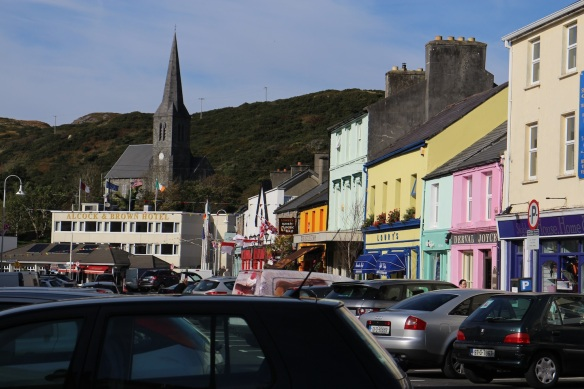 Standing on Market Street (the R341), looking west. That's the Catholic church and below it, the Alcock & Brown Hotel. You know about Alcock and Brown, right?