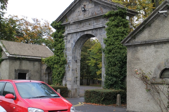 The entrance gate to the Celbridge Manor Hotel, mid-October 2015.