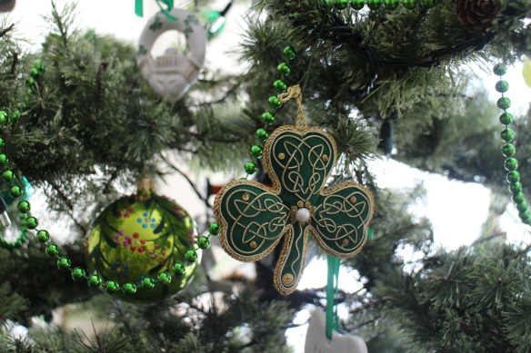 There are quite a few shamrocks, both fabric and glass.