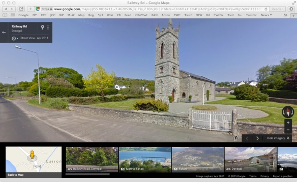 I screen-grabbed this from Google Maps, because it's better than the one I took: St. Mura's [Church of Ireland] Parish Church, Fahan, Co. Dublin.