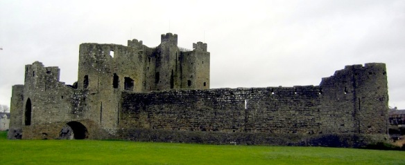 Trim Castle, a twelth-century Norman castle in County Meath. It was a featured player in the Mel Gibson–directed movie Braveheart. I picked this photo up from Wikipedia.
