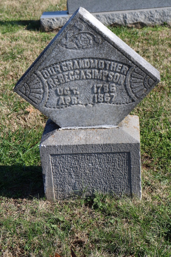 This woman, also a Simpson by marriage, was born in 1786. That may have been the oldest birth year I found.