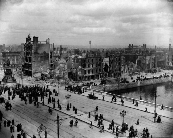 A view of Sackville Street—now O'Connell Street—and the River Liffey on 11 May 1916. I borrowed this photo from the Irish Times, who credit the photo to PA/PA Wire.