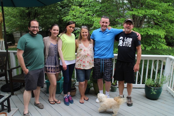 Day before the party, just hanging around on the deck with the fam.