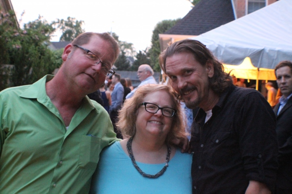 Biron and Brad … and my hair was drying out. :)
