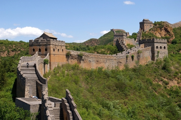 Great Wall of China near Jinshanling; photo from Wikipedia.