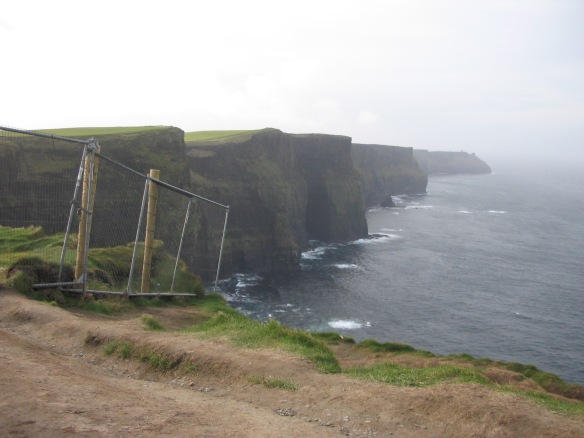 Construction at the Cliffs of Moher.
