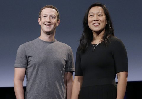 Mark Zuckerber and Pricilla Chan Photo credited to the AP by Business Insider