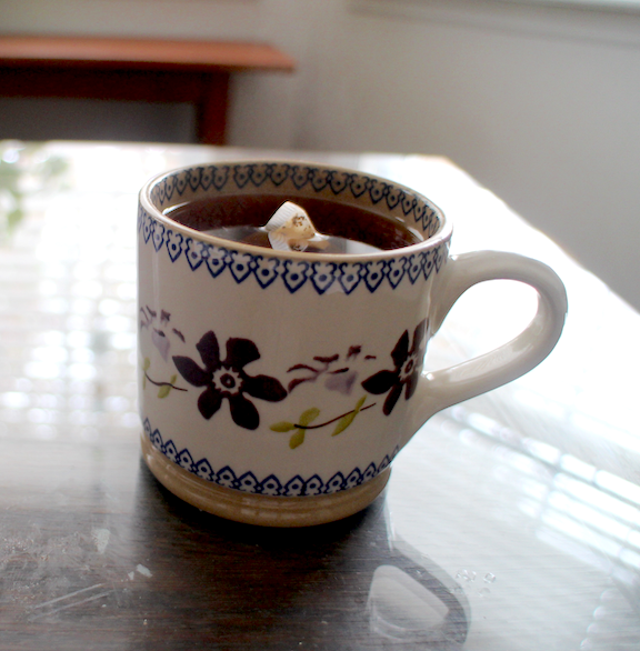 Mug by Nicholas Mosse, clematis pattern.