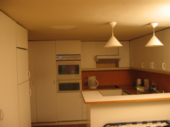 The efficient little kitchen.